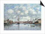 Dunkerque, Le Bassin des Hollandais, 1889 Prints by Eugène Boudin