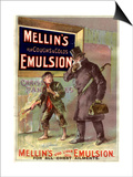 Mellin's Emulsion Coughs, Colds and Flu Medicine, UK, 1890 Posters