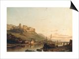 A View of Heidelberg and the River Neckar Prints by Francois Antoine Bossuet