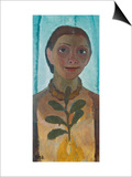 Self-Portrait with Camellia Twig, 1907 Prints by Paula Modersohn-Becker
