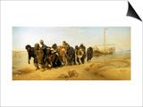 Die Wolgatreidler, 1870/73 Prints by Ilya Efimovich Repin