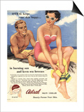 Sun Creams Lotions Tan Tanning Sunburn Astral Suntans Sunbathing, UK, 1950 Posters