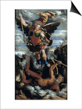 The Archangel Michael Poster by Dosso Dossi