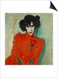 Portrait of the Dancer Alexander Sacharoff, 1909 Art by Alexej Von Jawlensky
