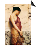 The Tambourine Girl, 1906 Print by John William Godward