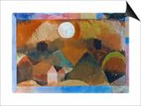 Landschaft in Rot Mit Dem Weissen Gestirn 1917 Poster by Paul Klee