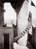 Staircase of the Tower of Palazzo Vecchio in Florence. in the Background the Dome of the Cathedral Prints