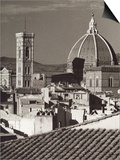 Panorama of Florence with the Belltower of Giotto and the Dome of the Cathedral Prints
