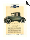 Chevrolet, Magazine Advertisement, USA, 1925 Posters
