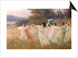 Dancing Maidens Posters by Leopold Franz Kowalsky