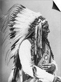 Portrait of an American Indian Chief Posters