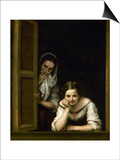 Women from Galicia at the Window, 1655-1660 Prints by Bartolome Esteban Murillo