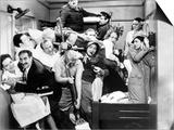 "Harpo Marx, the Marx Brothers, Chico Marx, Groucho Marx. ""A Night At the Opera"".1935, by Sam Wood Print"