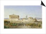 Die Akropolis Von Athen Zur Zeit des Perikles 444 V.Chr, 1851 Prints by Ludwig Lange