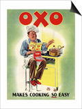 OXO, Chefs Cooking, UK, 1950 Prints
