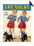 1960s UK Treasure Magazine Cover Posters