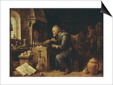 An Alchemist in his Workshop, early 1650s Prints by David Teniers the Younger