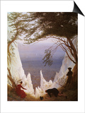White Cliffs of Ruegen Prints by Caspar David Friedrich