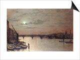 London Bridge, 1883 Prints by John Atkinson Grimshaw