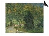 Promenaders, Jardin Du Poete (Arles), 1888 Prints by Vincent van Gogh