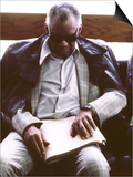Ray Charles Reading Braille Prints