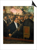 The Opera Orchestra, about 1870 Print by Edgar Degas