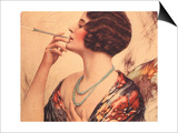Women Cigarettes Holders Smoking, USA, 1920 Prints