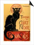 Tournée du Chat Noir, ca. 1896 Kunst av Théophile Alexandre Steinlen
