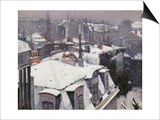 Rooftops in the Snow, c.1878 Prints by Gustave Caillebotte
