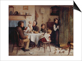 Crumbs from a Poor Man's Table, 1868 Art by Joseph Clark