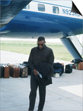Ray Charles Beside His Private Jet Prints