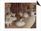 Ballet Rehearsal on Stage, 1874 Prints by Edgar Degas