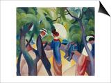Promenade, 1913 Prints by Auguste Macke