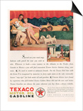 Texaco, Magazine Advertisement, USA, 1929 Prints