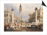 The Entrance to St Mark's Square, Venice Posters by Samuel Prout