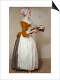 The Hot Chocolate Girl, about 1744/45 Print by Jean-Etienne Liotard