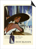 1950s France Bourjois Magazine Advertisement Art