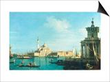 View of Venice from the Punta della Dogana towards San Giorgio Maggiore Posters by  Canaletto