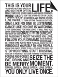 This Is Your Life Motivational Poster Prints