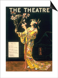 The Theatre, Japanese Geishas, USA, 1920 Poster