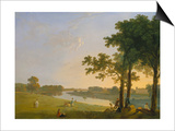 View across the Thames River Near Kew Gardens onto Syon House, about 1760/1770 Posters by Richard Wilson
