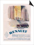 Renault, Magazine Advertisement, USA, 1930 Prints