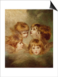 A Child's Portrait In Different Views: Angel's Heads, 1787 Prints by Sir Joshua Reynolds