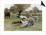 Flirting, 1896 Posters by Edouard Debat-Ponson