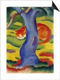 Cat Behind a Tree, 1910/11 Art by Franz Marc