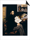 Emile Zola, c.1868 Art by Édouard Manet