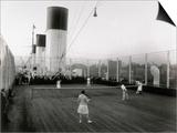 Tennis Match Played on the Games Deck of the German Transatlantic Liner 'Cap Arcona' Print