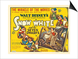 Snow White And the Seven Dwarfs, 1937, Directed by Walt Disney Print
