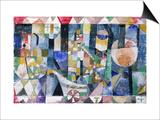Hafenbild (Raddampfer), 1918 /142 Posters by Paul Klee