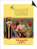 Texaco, Magazine Advertisement, USA, 1926 Posters